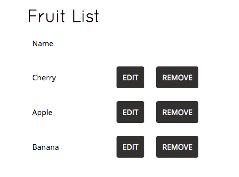 Fruit List