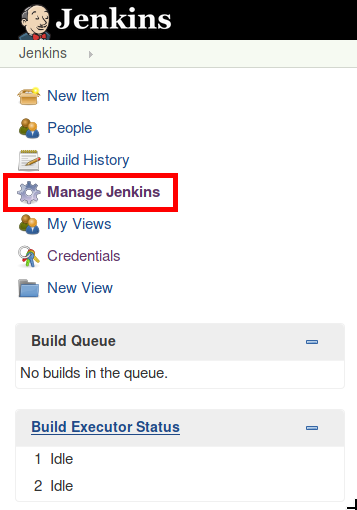 Manage Jenkins button